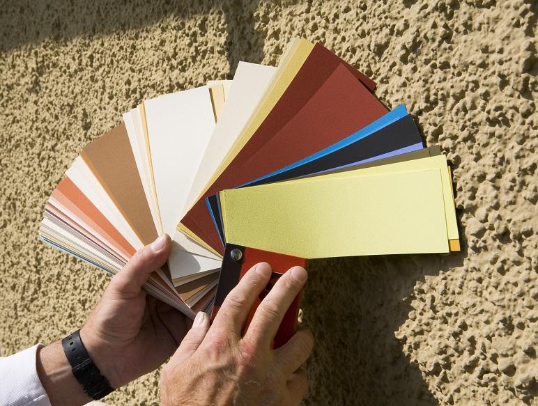 Farbfächer für Hausfassendengestaltung